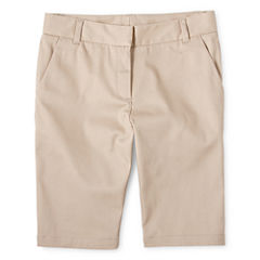 IZOD® Twill Bermuda Shorts - Girls 7-16, Slim and Plus