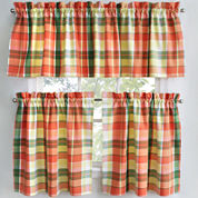 Park B. Smith Plaid Stripe Kitchen Curtains