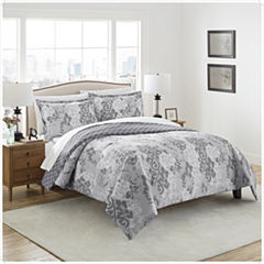 Marble Hill Cheyanne 3-pc. Damask + Scroll Midweight Reversible Comforter Set
