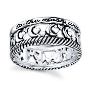 Footnotes Too Footnotes Womens Sterling Silver Band