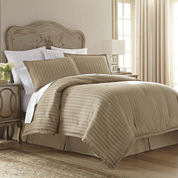 Royal Velvet® 400tc Damask Stripe Cotton Comforter Set
