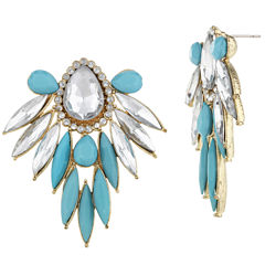 Mixit Marquise Blue Stud Earrings