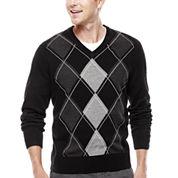 Dockers® V-Neck Argyle Pullover Sweater