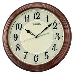 Seiko White Wall Clock-Qxa667blh