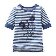 OshKosh B'gosh® Floral Striped Tee - Baby Girls 3m-24m