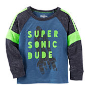 OshKosh B'gosh® Blue Knit Shirt - Boys 4-14