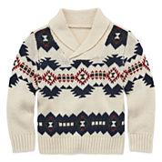 Arizona Long-Sleeve Shawl Sweater - Toddler Boys 2t-5t