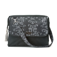 LillyBit Gray Damask Diaper Bag