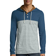 Arizona Lightweight Colorblock Henley Hoodie