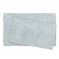 Laura Ashley Cotton Ruffle 2-pc. Bath Rug Set