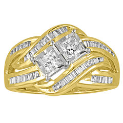 tw princess white diamond 10k gold engagement ring - Jcpenney Wedding Rings