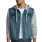 Arizona Long-Sleeve Hooded Denim Jacket