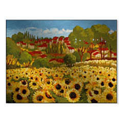 Sunflower Field I Metal Art
