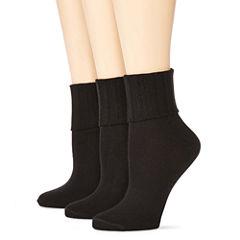 Mixit™ 3-pk Turn-Cuff Crew Socks