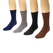 Muk Luks® 4-pk. Aloe Crew Socks