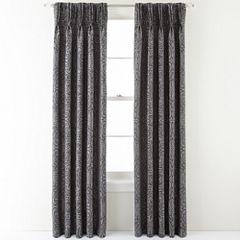 Royal Velvet® Colebrook Pinch-Pleat Damask Curtain Panel