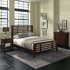 Mountain Lodge Bed, Nightstand and Chest