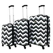 Chariot Travelware Chevron 3-pc. Hardside Luggage Set