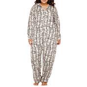 Flirtitude® Hooded Union Suit Pajamas - Plus