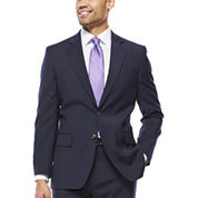 Stafford® Travel Stretch Navy Pinstripe Jacket - Classic Fit