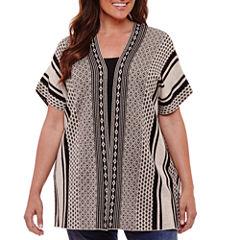 St. John's Bay Short Sleeve Poncho-Plus