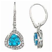 Sterling Silver Blue Topaz Earrings