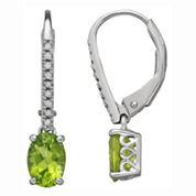 Sterling Silver Peridot & Diamond-Accent Earrings