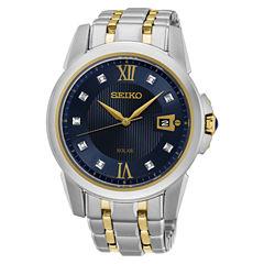 Seiko Mens Two Tone Bracelet Watch-Sne428