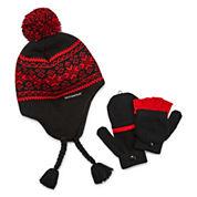 Weatherproof Peruvian Hat and Glove Set - Boys 8-20