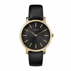 Timex Metropolitan Skyline Womens Black Strap Watch-Tw2r36400jt