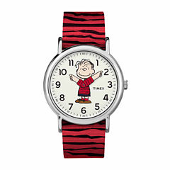 Timex Weekender Peanuts Peanuts Unisex Red Strap Watch-Tw2r41200jt