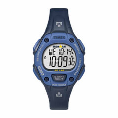 Timex Ironman Classic 30 Mid-Size Womens Blue Strap Watch-Tw5m141009j
