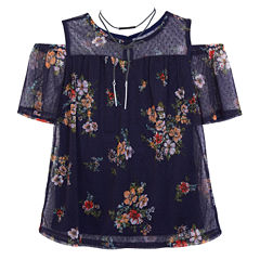 by&by girl Round Neck Sleeveless Blouse - Big Kid Girls