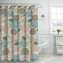Sonrie Faux Linen Shower Curtain Set