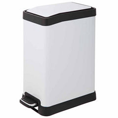 Home Zone 8-Liter Rectangle Trash Can With Pedal