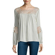 i jeans by Buffalo Long-Sleeve Crochet Blouse