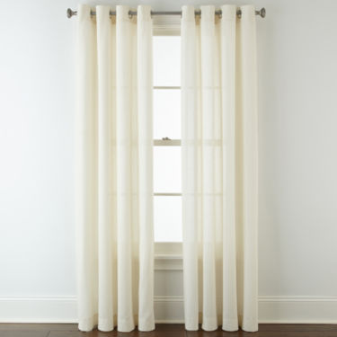 Curtains Ideas curtains jcpenney home collection : JCPenney Home™ Cotton Classics Solid Grommet-Top Curtain Panel ...