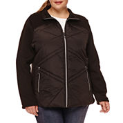 Zero Xposur® Hybrid Fleece Jacket - Plus