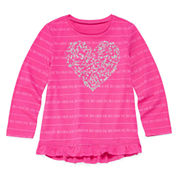 Arizona Long-Sleeve Graphic Top - Preschool Girls 4-6x