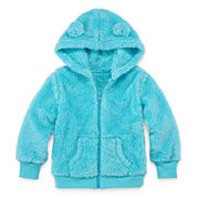 Arizona Long-Sleeve Teddy Bear Hoodie - Toddler Girls 2t-5t