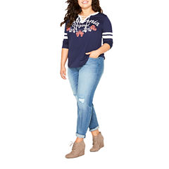 Arizona Boyfriend Fit Juniors Plus
