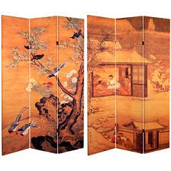 Oriental Furniture 6' Chinese Landscapes Room Divider