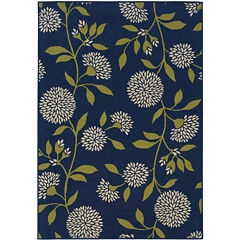 Covington Home Pom-Pom Flowers Rectangular Indoor/Outdoor Rug
