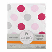 Carter's® Fitted Woven Crib Sheet - Pink Dots