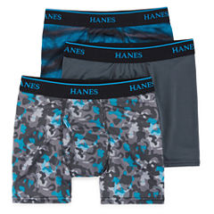 XTEMP POLY PRINT 3-PC. BOXER BRIEF CAMO