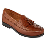 Stafford® Burke Mens Leather Tassel Loafers
