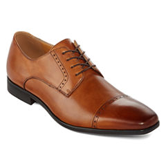 Collection by Michael Strahan  Wilshire Mens Leather Cap-Toe Oxford Shoes