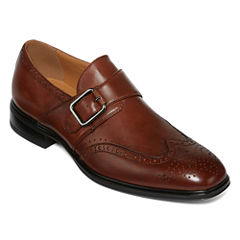 Collection by Michael Strahan Brooks Mens Leather Monk Strap Loafers
