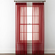 Liz Claiborne® Lisette Pinch-Pleat Sheer 2-Pack Curtain Panels