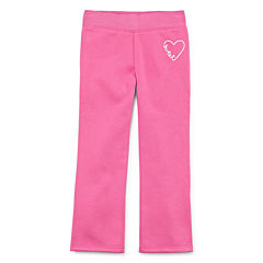 Okie Dokie® Pull-On Fleece Pants - Toddler Girls 2t-5t